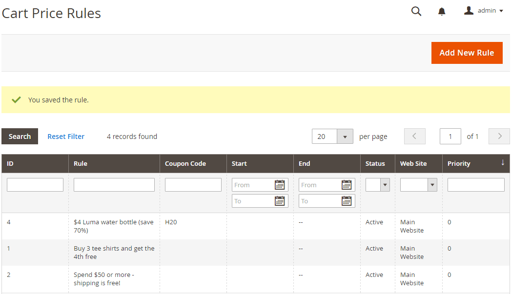 How to Create a Cart Price Rule Cart Save Rule