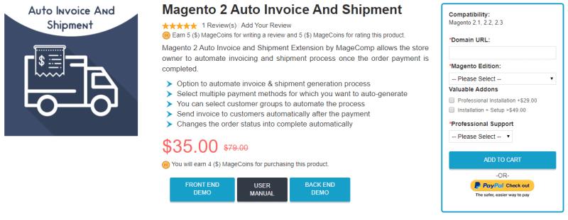 Magento 2 Auto Invoice & Shipment by MageComp