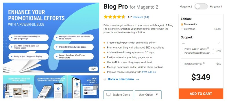 Blog Pro for Magento 2 by Amasty