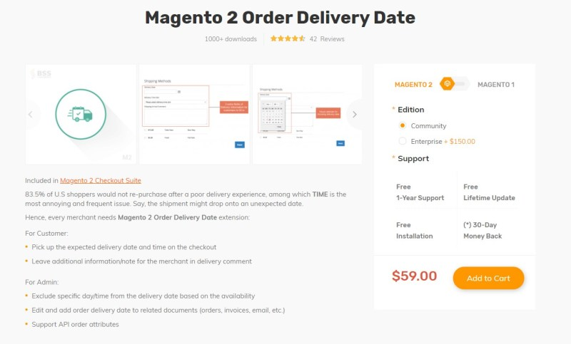 Magento 2 Delivery Date Extensions by bss