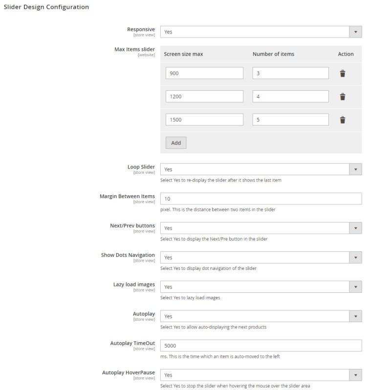 4. Slider Design Configuration