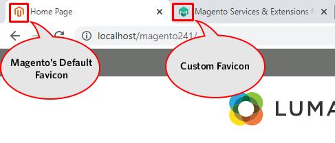 Default and Custom Favicon