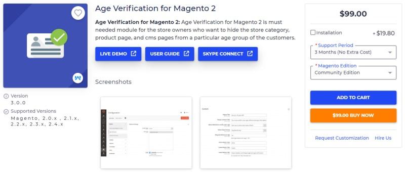 Age Verification for Magento 2 - Webkul