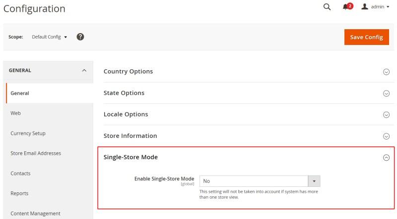 Expland Single-Store Mode
