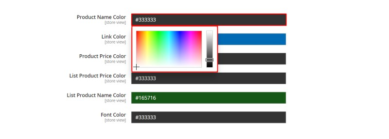 HEX Color Picker of Product Print