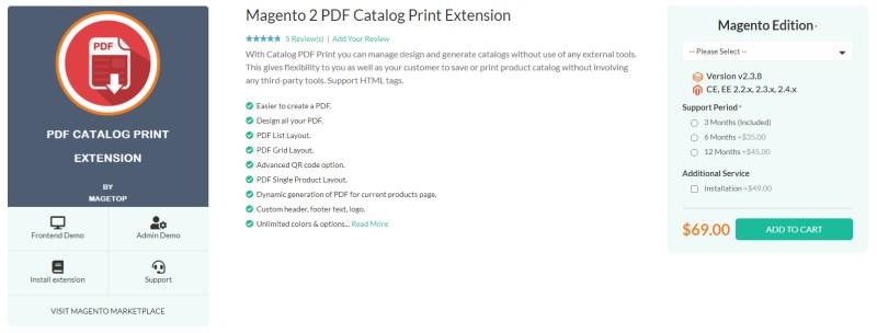 Magetop PDF Catalog Print Extension