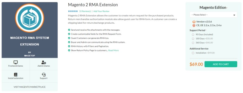 Magetop RMA Extension