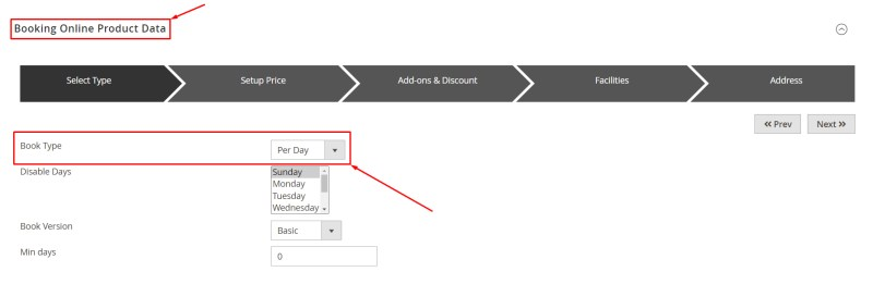 Select Booking Type