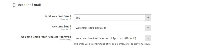 Account Email (Email Configuration)