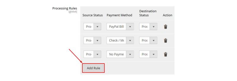 Click Add Rule button