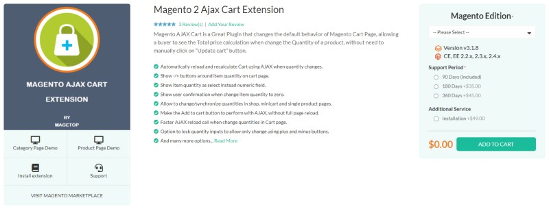 Magetop Ajax Cart Extension