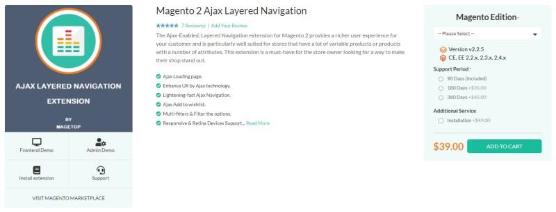 Magetop Ajax Layered Navigation Extension