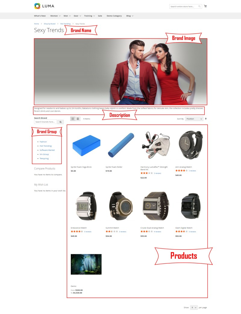 Shop By Brand Detail Page