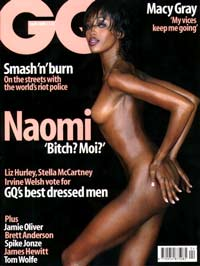 Naomi Campbell on cover of GQ