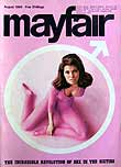 Mayfair men's magazine launch issue cover with Raquel Welch