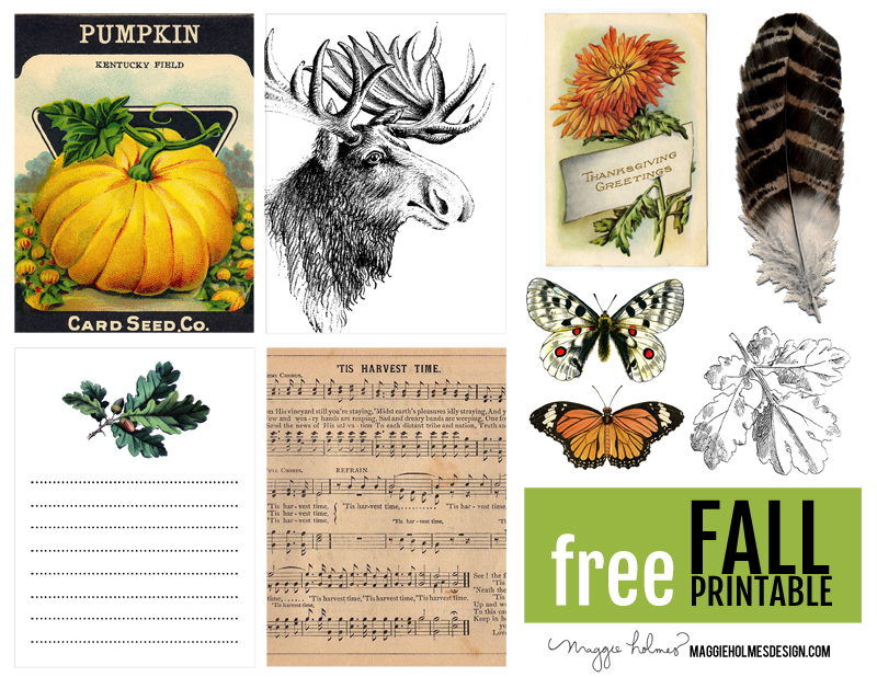 Free Fall Printable Maggie Holmes
