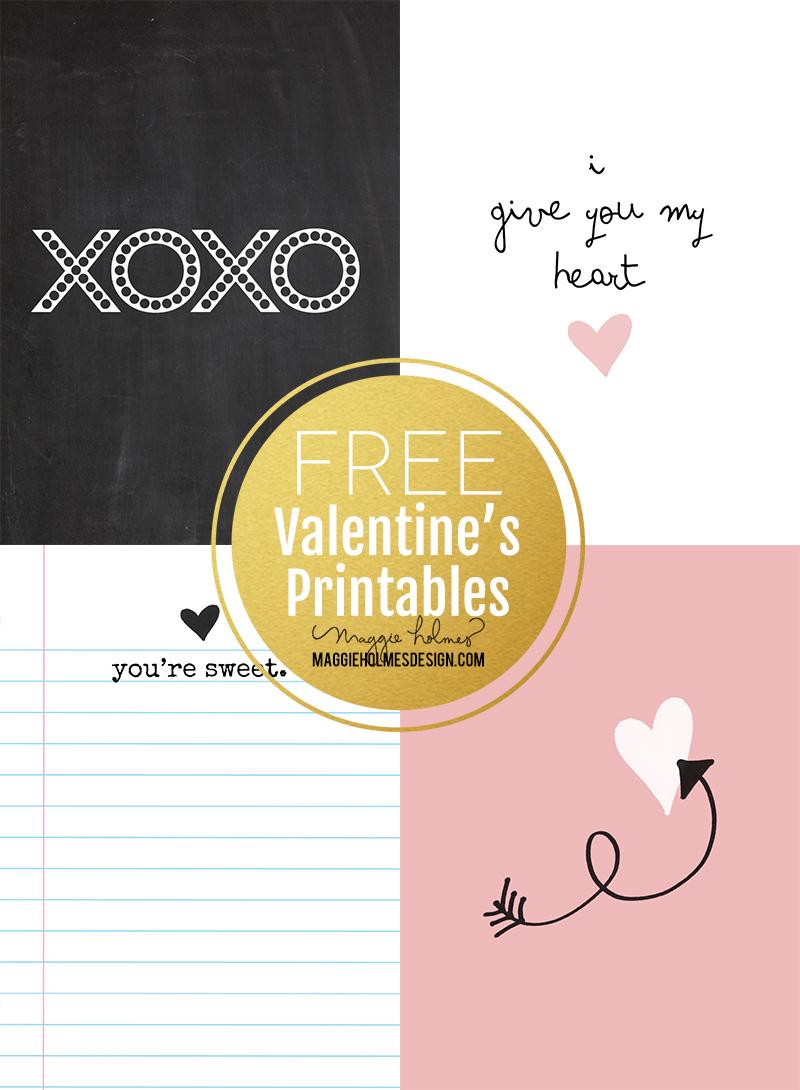 Maggie Holmes FREE Valentine's Printables