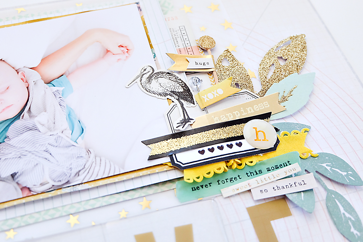 Love This Scrapbook Page using Maggie Holmes Confetti-3