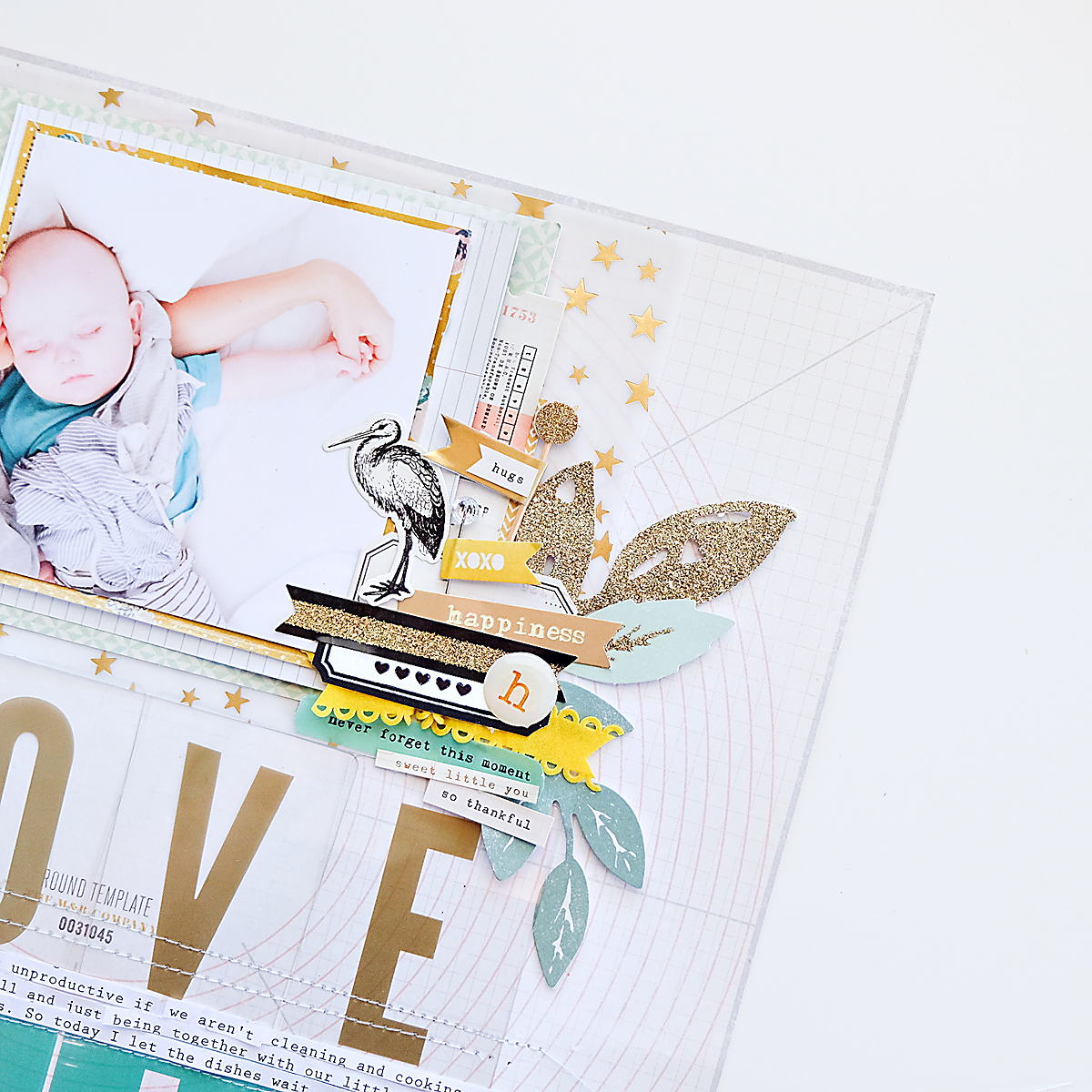 Love This Scrapbook Page using Maggie Holmes Confetti-5