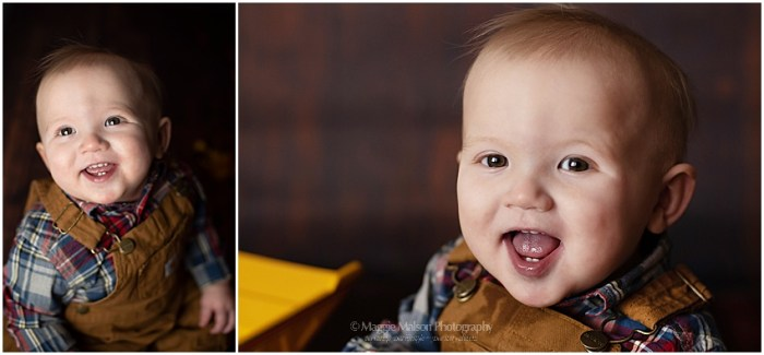 one year old studio session