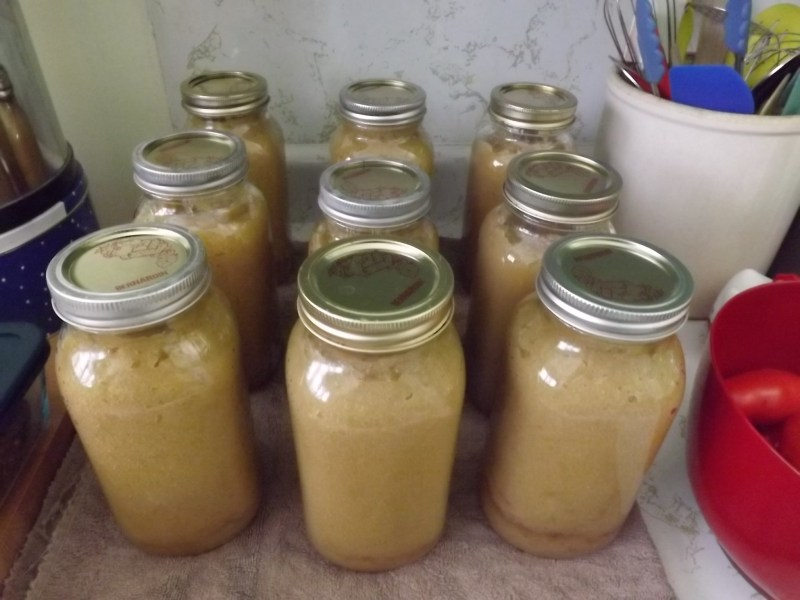 9 jars of applesauce