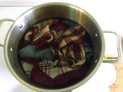 Boiling dishclothes DSCF1260