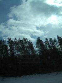 Clearing Sky, Near Peterborough Ontario, February 19,2011