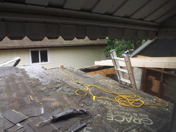 Garage roof front sawzall