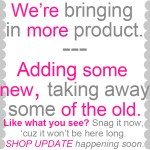 {adding in new product ~ a sale}
