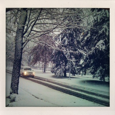 {I woke to a Winter Wonderland.}