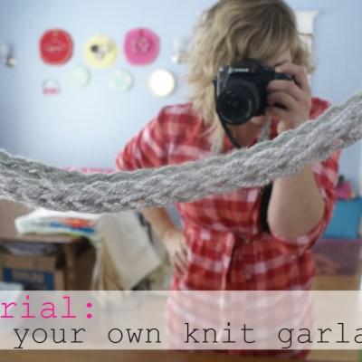 {saturday craft: finger knitting // garland & necklace}