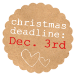 {announcing the Gussy Sews Christmas order-by deadline!}