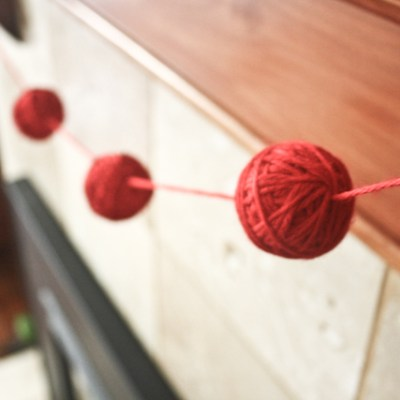 {Yarn Ball Bunting // DIY}
