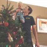 Maxwell's first Christmas tree.