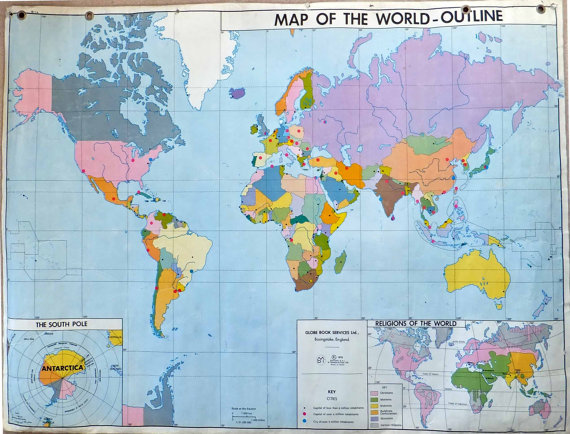 world map maggie whitley