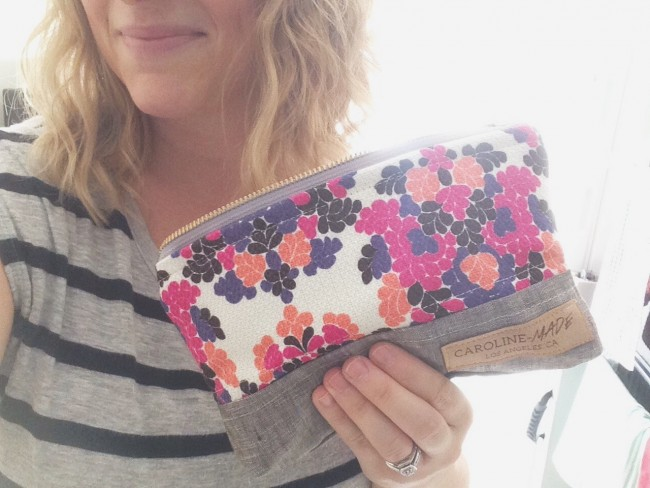 Caroline-made zip pouch maggie whitley