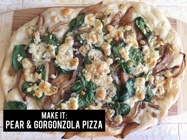 pear & gorgonzola pizza | maggie whitley