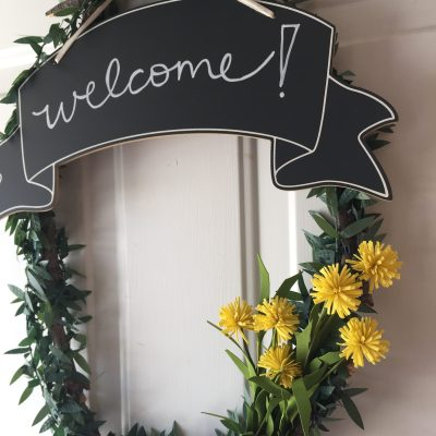A few simple changes for Spring, plus a front door wreath idea!