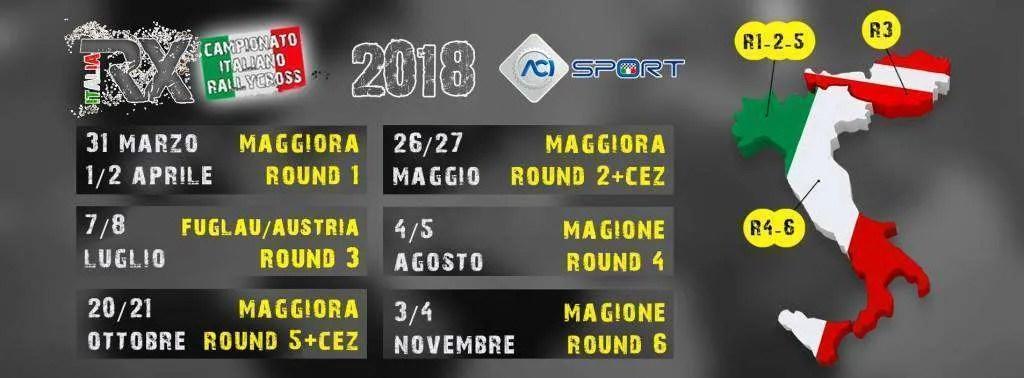 Svelato il calendario 2018 del Campionato Italiano Rallycross RXIT