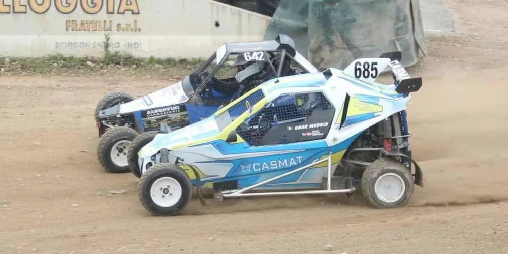 Omar Modolo prova il Rallycross
