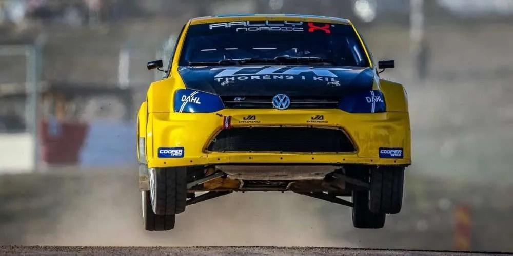 Dan Skocdopole in supercar nel Campionato Italiano Rallycross