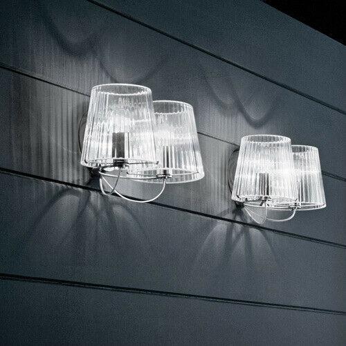 De Majo Illuminazione Lampada Da Parete Lumè A2 Cristallo