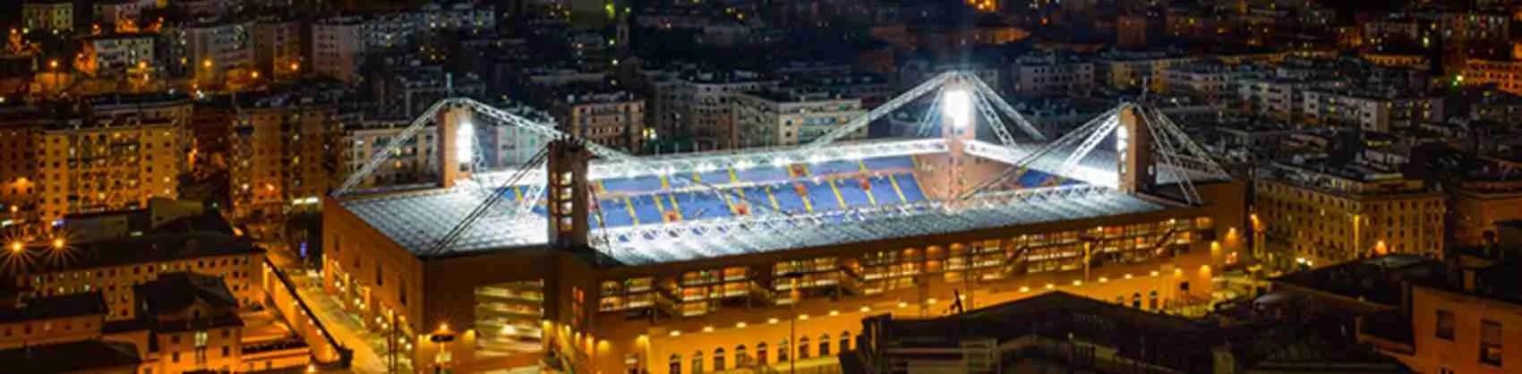 Lo stadio di Genova, occasione perfetta per una serata speciale con una escort di alto livello.