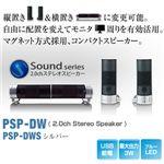 【シルバー】 Princeton Dual Way Speaker (USB給電PC用スピーカー) シルバー PSP-DWS