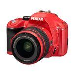 【レッド】 PENTAX(ペンタックス) デジタル一眼レフカメラ K-x ダブルズームキット レッド