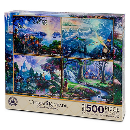 Disney Puzzle Set Thomas Kinkade Painter Of Light