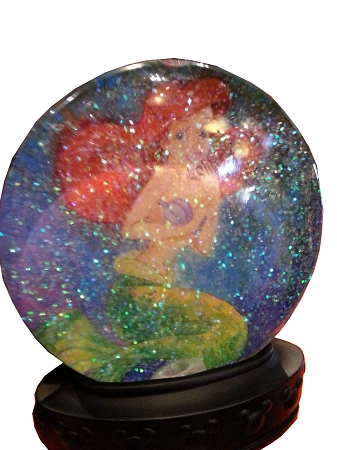 Disney Snow Globe The Little Mermaid Ariel