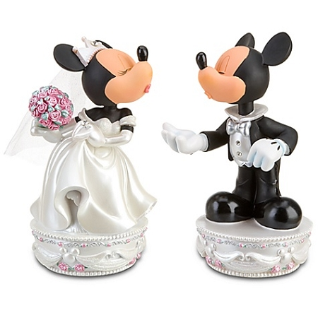 Disney Bobblehead Figure Wedding Minnie And Mickey Mouse