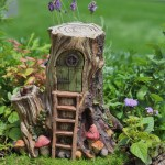 Miniature Hollow Wood Hut Tree Stump Fairy House With Hinged Door Fghw