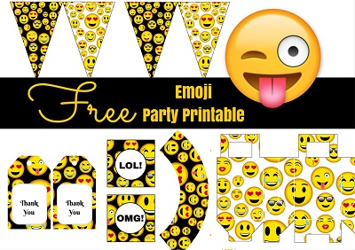 Free Emoji Birthday Party Printables Download